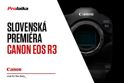 Slovenská premiéra Canon EOS R3 v PRO.Laika