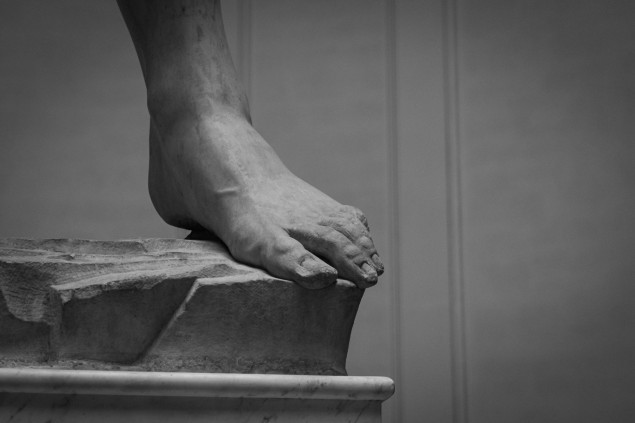 Florencia, Dávidova noha, jún 2020. Copyright: Jana Rajcová