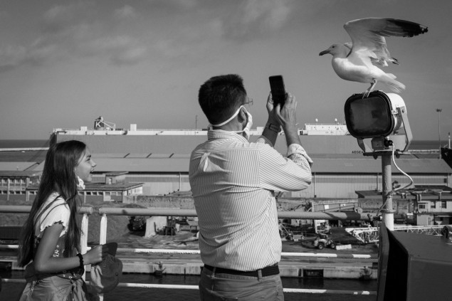 Livorno, Na palube trajektu, jún 2020. Copyright: Jana Rajcová